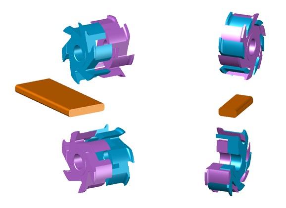 Банная доска схема обработки 3D