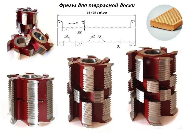 Террасная доска 95-125-145 мм